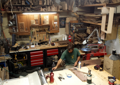 At home in the shop