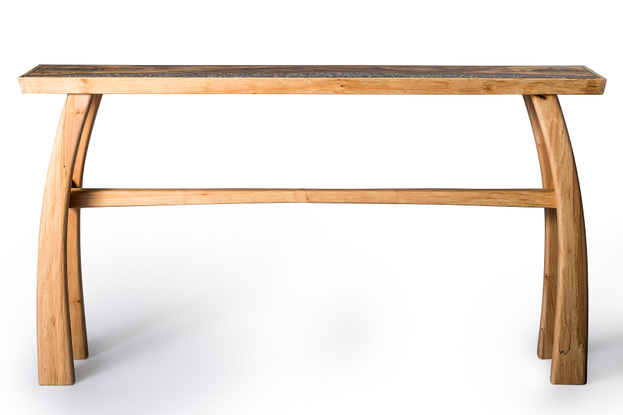 Console table in apple and maple