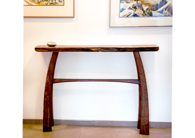 Console table in claro walnut