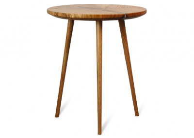 Round side table in chestnut