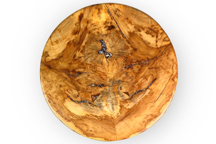 Round side table in valencia orange