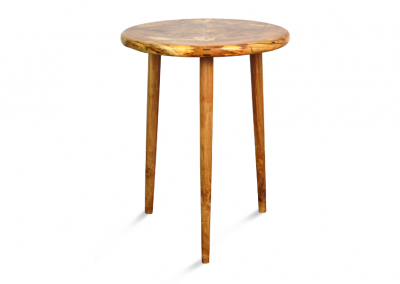 Round side table in valencia orange