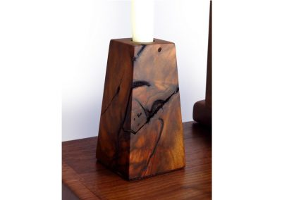 Candle stand in black walnut