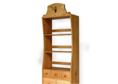 Cicadoidea cupboard in quartersawn oak