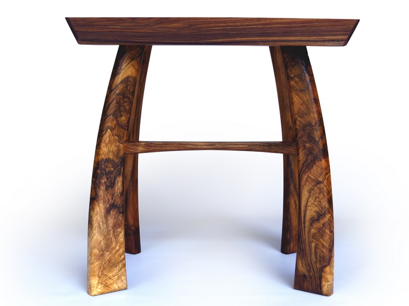 Side table in English walnut