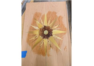 Sunbrust marquetry