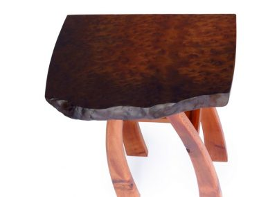 Display table in giant sequoia